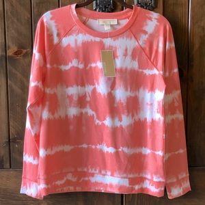 NWT MK Orange Creamsicle Tie Dye Sweatshirt